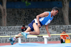 Veteran athletes. Compete in the national championships in a stadium in the city of Solo, Central Java, Indonesia Stock Photography