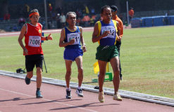 Veteran athletes. Compete in the national championships in a stadium in the city of Solo, Central Java, Indonesia Stock Photos