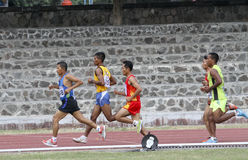 Veteran athletes. Are competing at a stadium in the city of Solo, Central Java, Indonesia royalty free stock photo