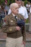 Veteran auf Volkstrauertag Lizenzfreies Stockbild