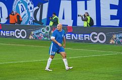 Veteran av FC Dnipro Oleksandr Chervonyi Royaltyfri Fotografi