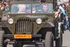 Veteran av världskrig 2 ståtar på royaltyfria bilder