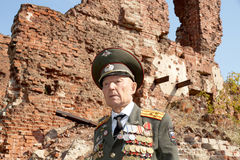 Veteran of the Battle of Stalingrad colonel Vladimir Turov Stock Photo