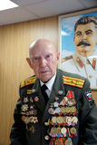Veteran of the Battle of Stalingrad colonel Vladimir Turov Stock Image