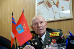 Veteran of the Battle of Stalingrad colonel Vladimir Turov Stock Images
