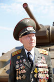 Veteran of the Battle of Stalingrad colonel Vladimir Turov Royalty Free Stock Photography