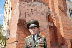 Veteran of the Battle of Stalingrad colonel Vladimir Turov at Pa Stock Image