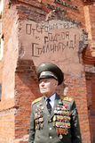 Veteran of the Battle of Stalingrad colonel Vladimir Turov at Pa Stock Photography