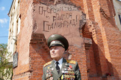 Veteran of the Battle of Stalingrad colonel Vladimir Turov at Pa Royalty Free Stock Photo