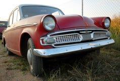 Veteran car. Red veteran car in Czech republic Royalty Free Stock Images