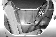 Veteran car. This is a veteran car,driving position.Horizontal composition Stock Image