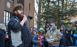 Veteran Dakota Serna at Ann Arbor Hash Bash 2014 Stock Photos