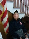 Veteran. Elderly veteran at Veteran's Day celebration royalty free stock images