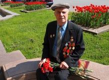 Veteran för ryss WW II Arkivbild