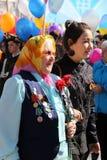 Veteran för världskrig II på Victory Day berömmar Royaltyfria Bilder