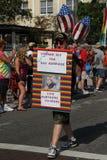 Veteran für homosexuelle Ehe Lizenzfreies Stockbild