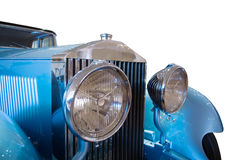 Veteran. Front of luxury blue veteran car Stock Photography
