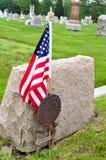 Veteran Grave Site. World War II Veteran Grave Site with an American Flag Stock Image