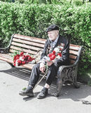 Veteran of great Patriotic war Stock Photography