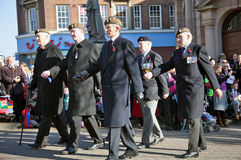 Veteran Guardsmen on parade Royalty Free Stock Photography