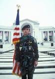Veteran Holding Flag, Arlington National Cemetery, Washington, D.C. Royalty Free Stock Image