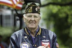 Veteran. A Veteran at Holiday Ceremony royalty free stock photos