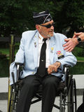 Veteran of the Korean War. Photo of a veteran of the korean war at the korean war memorial in washington dc on 5/29/17.  This man`s name is col. william e. weber Royalty Free Stock Images
