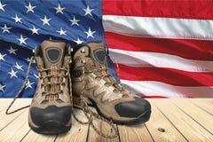 Veteran memorial. Day flag outdoor usa string white Royalty Free Stock Photos