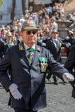 Veteran participating at military parade of Italian National Day Royalty Free Stock Photos