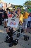 Veteran at peace rally, Ann Arbor, MI Royalty Free Stock Image