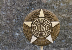 Veteran plaque Royalty Free Stock Photo