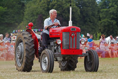 Veteran red tractor Royalty Free Stock Photography