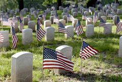 Veterans Cemetery Stock Photography