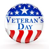 Veteran`s day button royalty free stock image