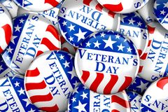 Veteran`s day button background royalty free stock photos