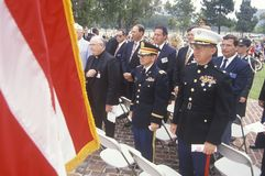 Veteran's Day Ceremony Stock Photography