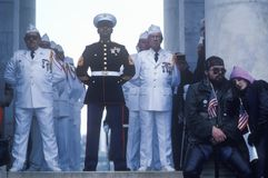 Veteran's Day Ceremony Stock Image