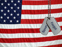 Veteran's tribute on dog tags Stock Image