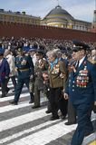 Veteran`s of World War II. Moscow Victory Parade of 2008 Royalty Free Stock Image