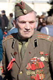 Veteran of the Second World War. The veteran of the Second World War on Victory Parade on Red Square. Moscow. Russia. On May, 9th, 2009 Stock Photos