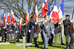 Veteran Soldiers in a WW1 war Cemetery Royalty Free Stock Photography
