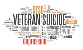 Veteran suicides PTSD royalty free illustration