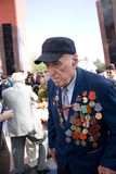 Veteran on Victory Day. 9 may 2010. Veteran attending the 65th anniversary of the Victory Day in Chishinau, Republic of Moldova stock photography