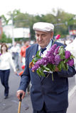 Veteran on Victory Day. 9 may 2010. Veteran attending the 65th anniversary of the Victory Day in Chishinau, Republic of Moldova Stock Photo