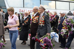 Veteran on Victory Day. 9 may 2010. Veteran attending the 65th anniversary of the Victory Day in Chishinau, Republic of Moldova royalty free stock images