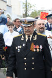 Veteran on Victory Day. 9 may 2010. Veteran attending the 65th anniversary of the Victory Day in Chishinau, Republic of Moldova royalty free stock photography