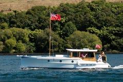 Veteran wooden motorboat Stock Image