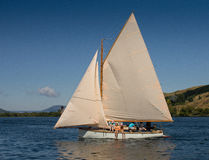 Veteran wooden sailboat Royalty Free Stock Image