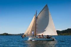 Veteran wooden sailboat Stock Photos