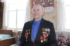 A veteran of World war 2 from the city Vetka, Gomel region (Belarus). Royalty Free Stock Photo